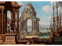 vision einer antiken hafenstadt by antonio visentini