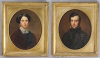 portrait of a gentleman and a portrait of a lady by american school