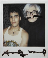 untitled by keith haring and andy warhol