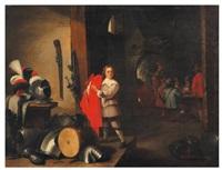 jeune page dans une taverne by abraham teniers