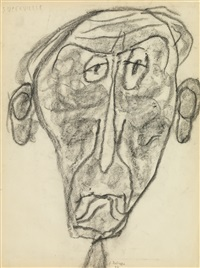 portrait of jules supervielle by jean dubuffet