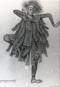 baris gdeh, a ceremonial dance by anak agung gede sobrat