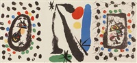 juan de juanes. drawings and lithographs of joan miro in the collection (set of 3) by joan miró