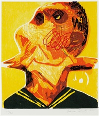 bird in throat (from skowhegan portfolio no. 1) by dana schutz
