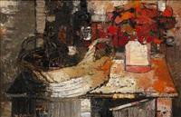 la vaisselier rose by bernard cathelin