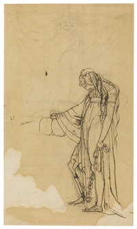a study of a woman in chains, with a phantom descending from above (recto/verso) by henry fuseli