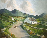 farmyard, west of ireland by william h. burns