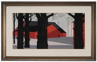 red barn by eyvind earle