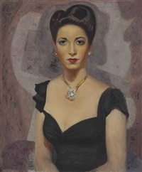 portrait of fina gómez by candido portinari