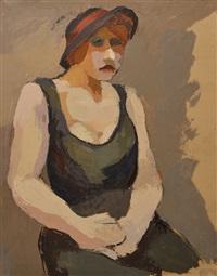 femme au chapeau by maurice le scouezec