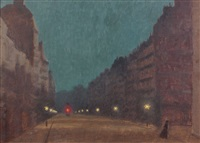 une rue la nuit by charles lacoste