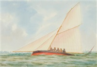 cutter yacht tornado, 3 ¾ tons a.p.y.c by george frederick gregory