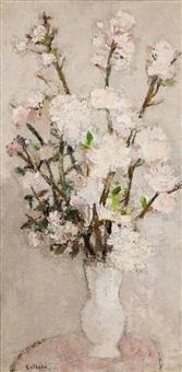 branches de pommier by bernard cathelin