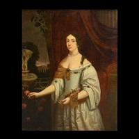 portrait of woman with rose by sir peter lely