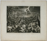die abreise abrahams nach sichem (after jacopo bassano) by cornelis visscher