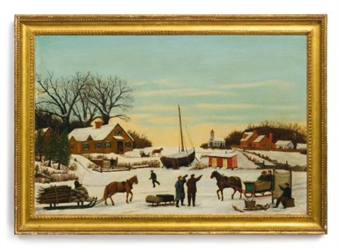 a town in winter by thornton oakley