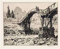 bridge near nikko by martin lewis