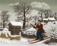 der schifahrer by milan generalic