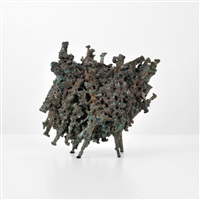 abstract hedge sculpture by harry bertoia