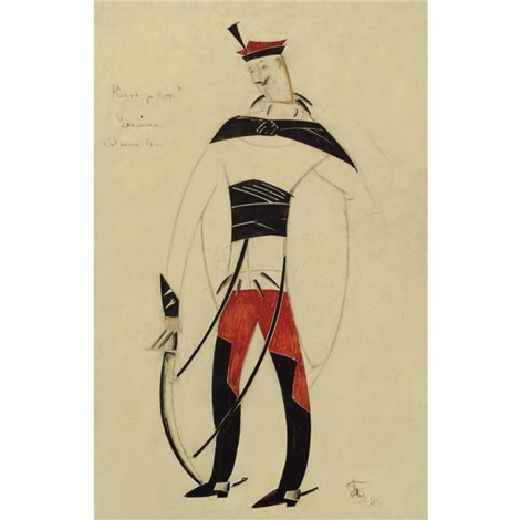 costume design for a life for the tsar ivan susanin by vladimir tatlin