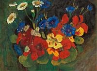 blomsterstudie / krass och blåklint (kress und kornblumen) by gabriele münter
