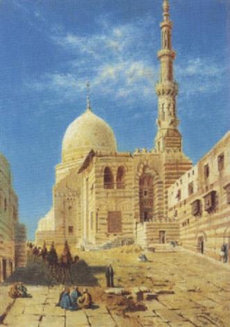 vue de la mosquée du sultan al ashraf qaytbay le caire by torello ancillotti