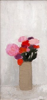 bouquet au pot sicilien by bernard cathelin