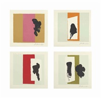 the berggruen series (set of 4) by robert motherwell