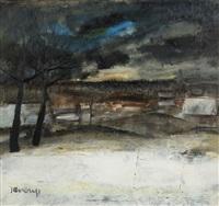 paysage hivernal by albert saverys