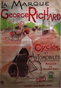 la marque georges richard cycles & automobiles (poster) by charles lucas