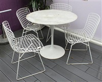 suite de quatre chaises au modèle bertoia1952 (set of 4) by harry bertoia