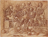 skeletons fighting by pseudo gherardi