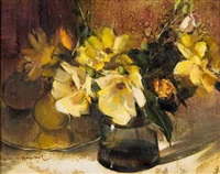 still life with roses by irmin henkel