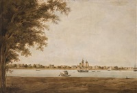 garden reach on the hooghly, calcutta by charles (sir) d'oyly