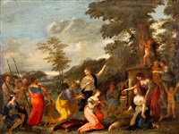 offerfeest by nicolas poussin
