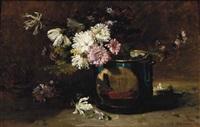 nature morte de fleurs by philippe rousseau