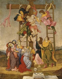 the deposition (after fillipino lippi and perugino) by niccolò (cartoni) zoccolo