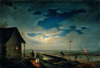 holdfényes magyarország (moonlit hungary) by janos janko