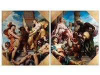 allegorie des handels sowie allegorie der produktion (pair) by henri léopold lévy