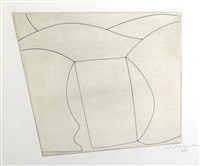 untitled (three forms in a landscape) by ben nicholson