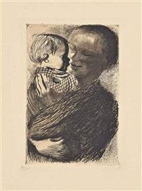 mutter mit kind auf dem arm by käthe kollwitz