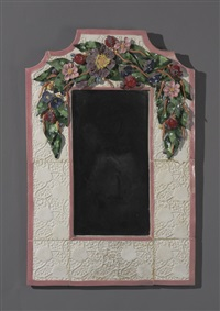 fruit and floral mirror by george alexander