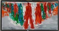 hommes rouges et verts by paul daxhelet