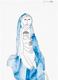 madonna mit kind by oswald tschirtner
