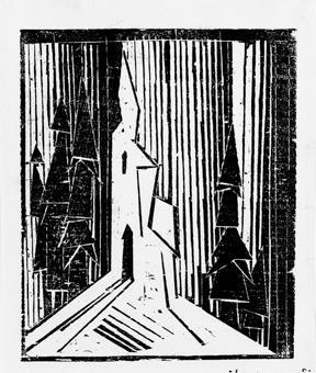 waldkirche 1 by lyonel feininger