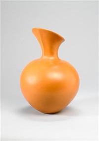 an orange vase by magdalene odundo
