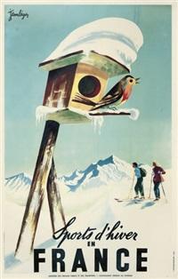 sports d'hiver en france by jean leger