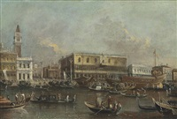 the bucintoro at the molo, venice, on ascension day by francesco tironi