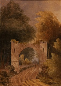 entrance to woodhall by david cox the elder