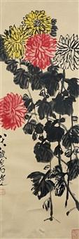 菊花争艳图 (chrysanthemums) by qi baishi